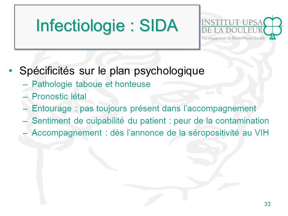 Infectiologie : SIDA Spécificités sur le plan psychologique