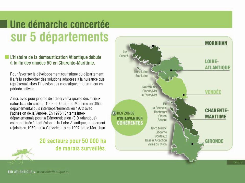 20 secteurs pour 50 000 ha de marais surveillés.