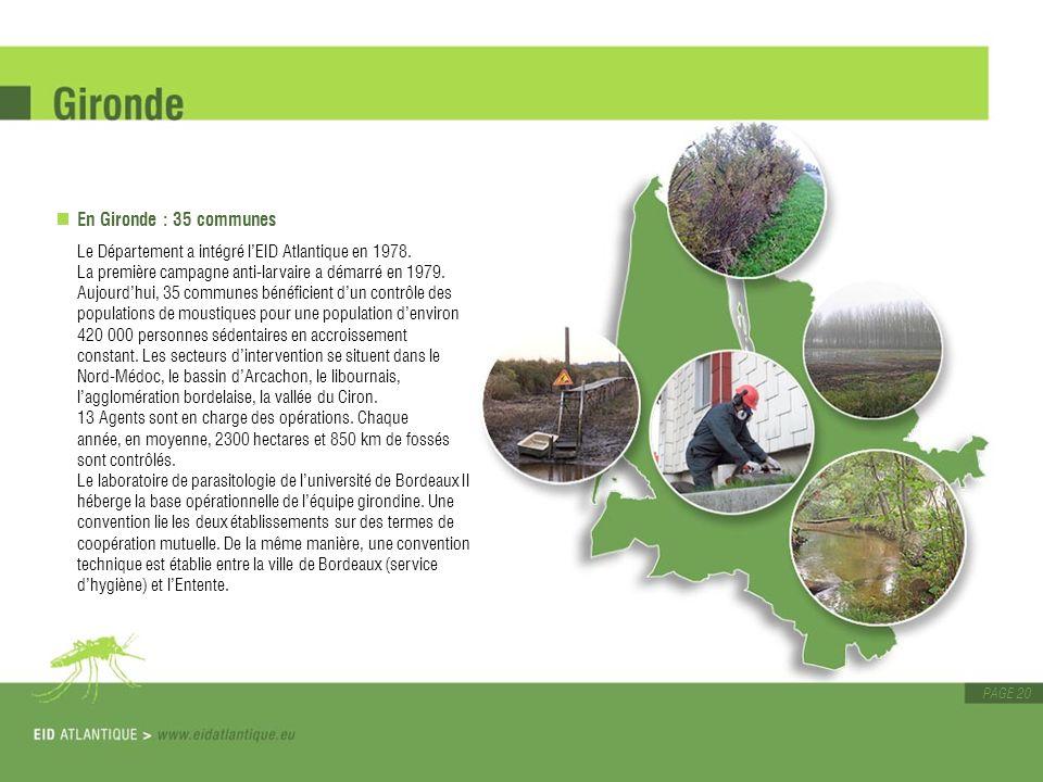 En Gironde : 35 communes