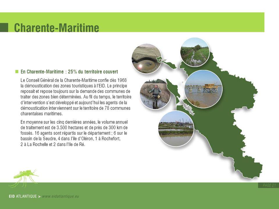 En Charente-Maritime : 25% du territoire couvert