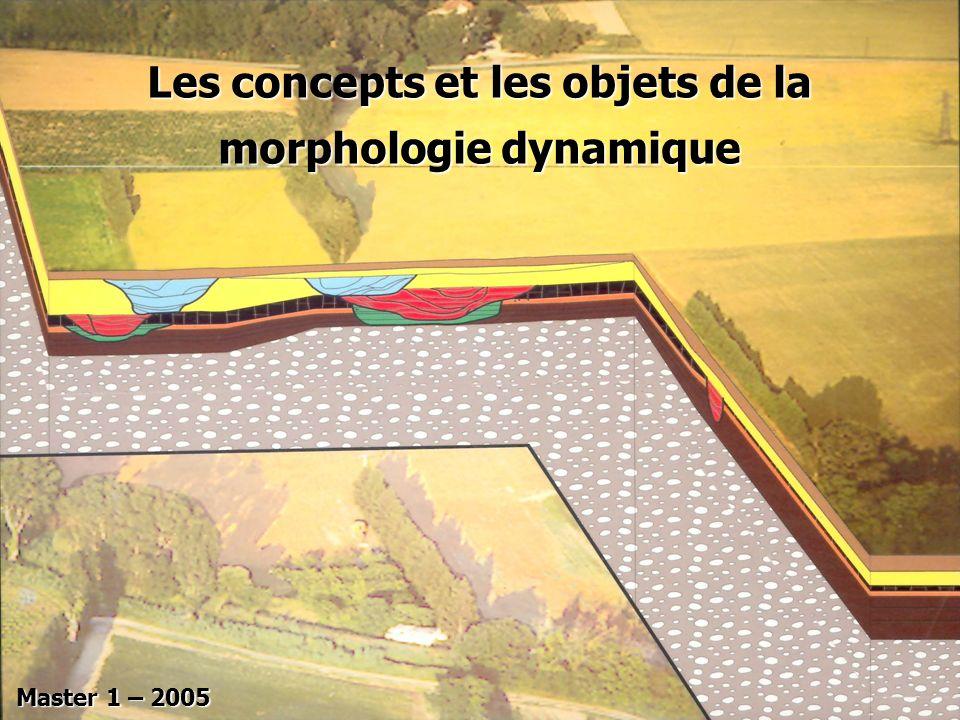 Les concepts et les objets de la morphologie dynamique