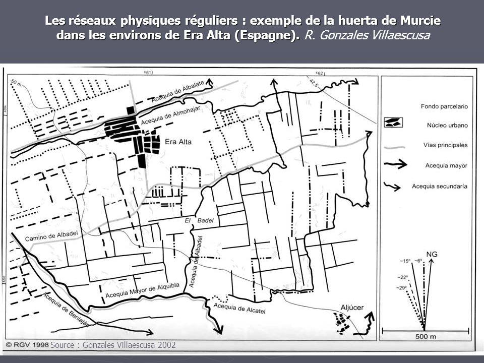 Les réseaux physiques réguliers : exemple de la huerta de Murcie dans les environs de Era Alta (Espagne). R. Gonzales Villaescusa