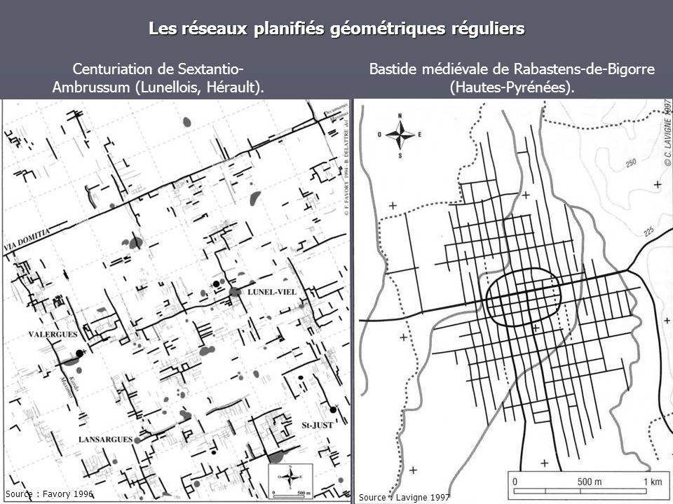 Les réseaux planifiés géométriques réguliers