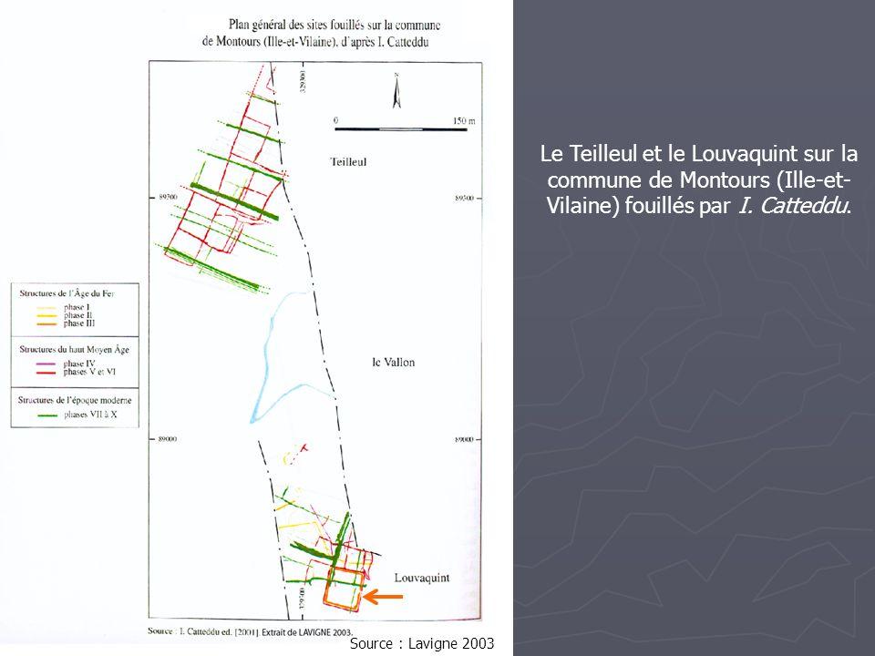 Le Teilleul et le Louvaquint sur la commune de Montours (Ille-et-Vilaine) fouillés par I. Catteddu.