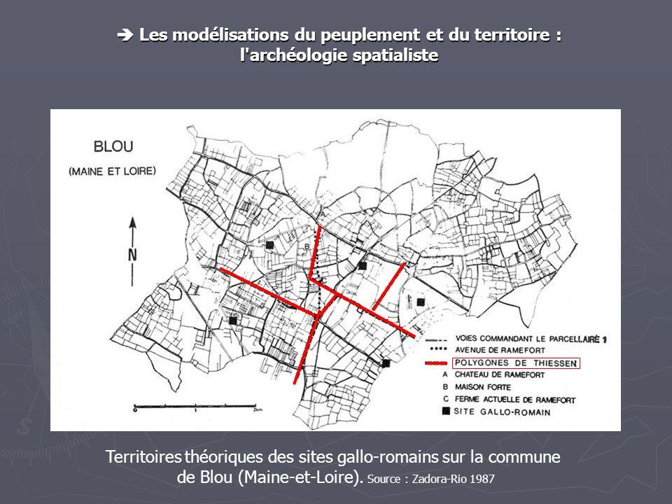  Les modélisations du peuplement et du territoire :