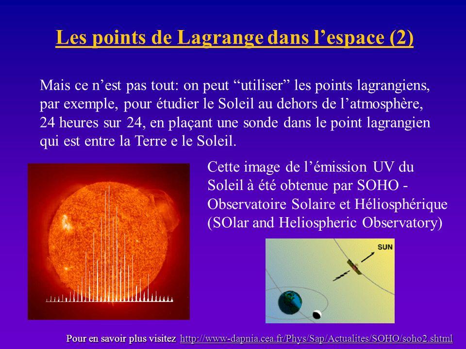 Les points de Lagrange dans l'espace (2)
