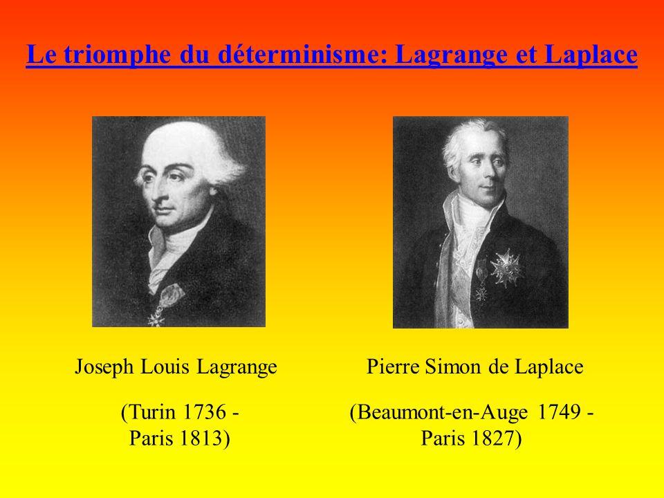 Le triomphe du déterminisme: Lagrange et Laplace