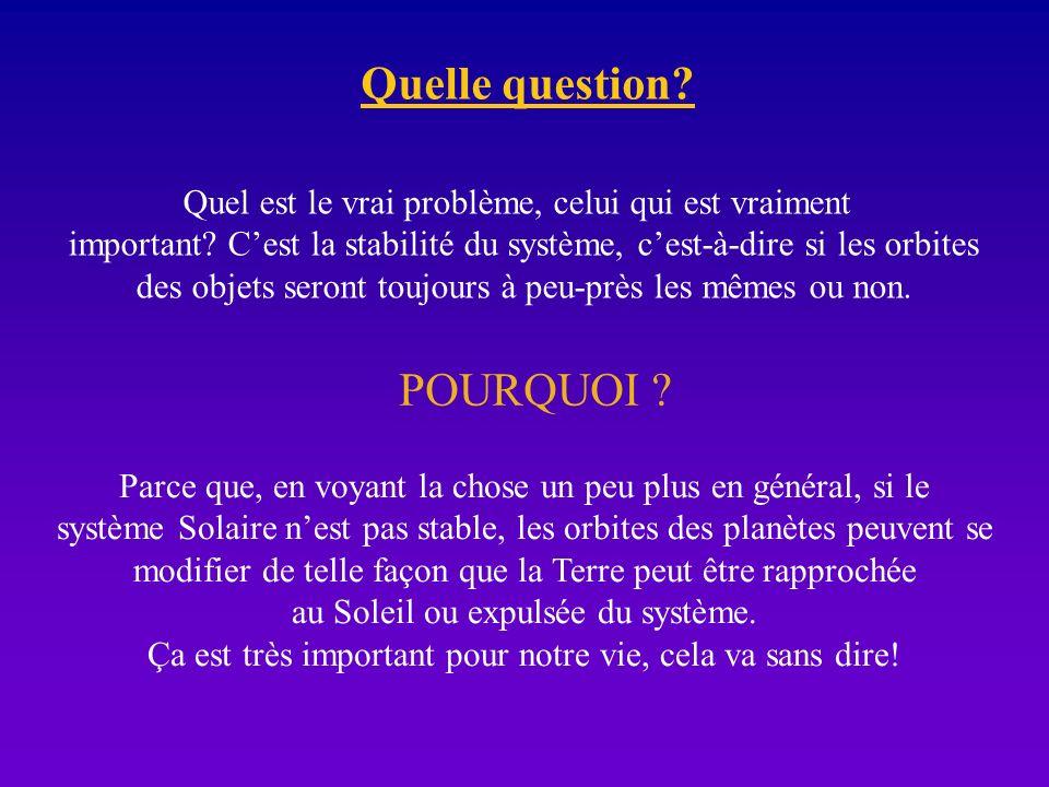 Quelle question POURQUOI