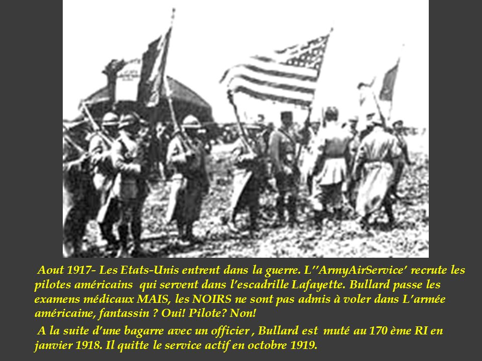 Aout 1917- Les Etats-Unis entrent dans la guerre