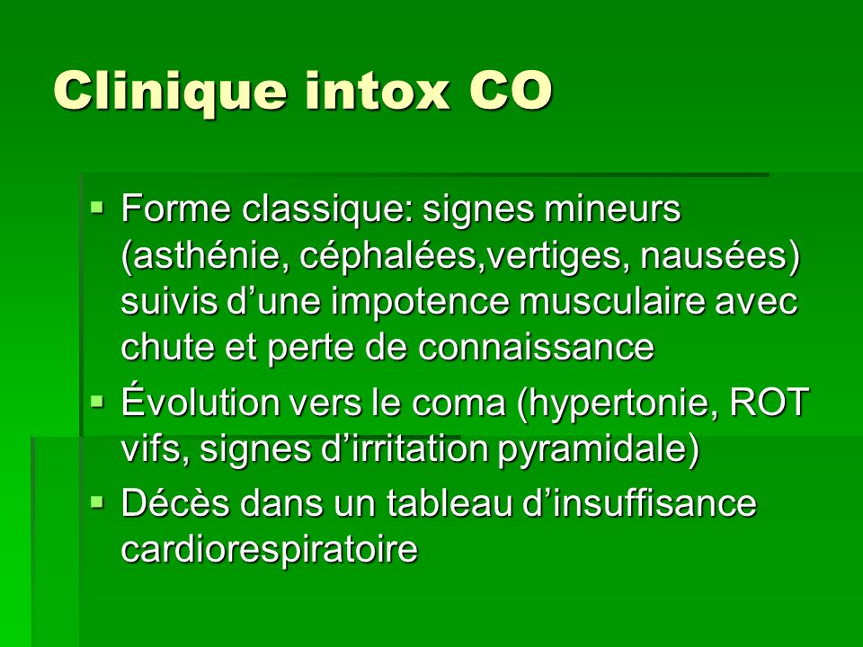 Clinique intox CO