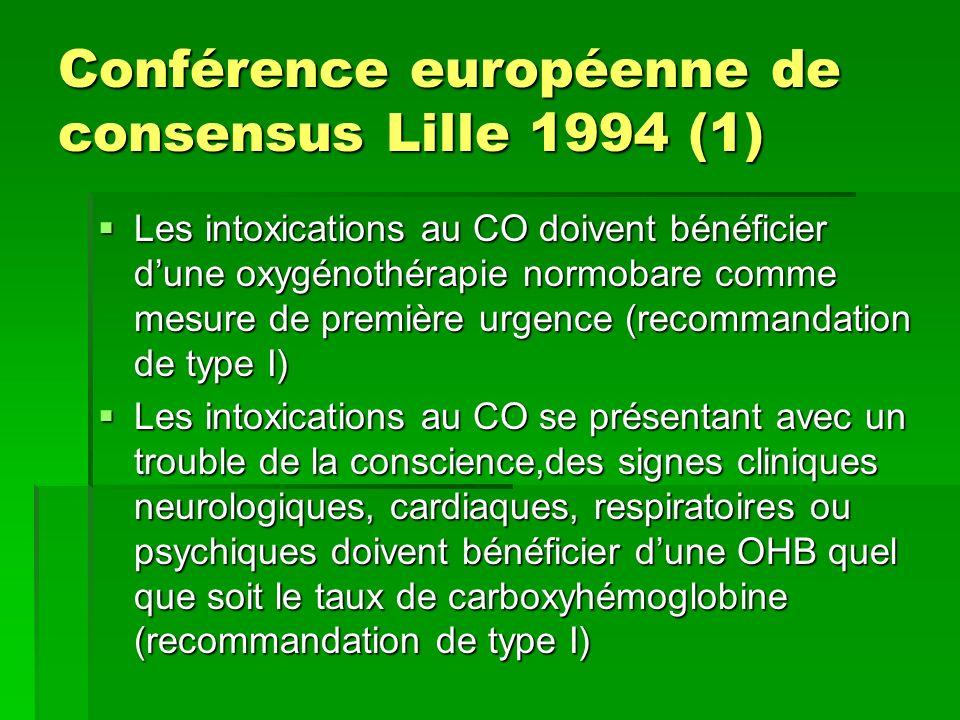 Conférence européenne de consensus Lille 1994 (1)