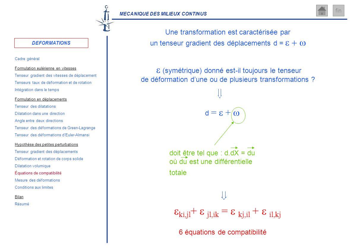 Équations de compatibilité