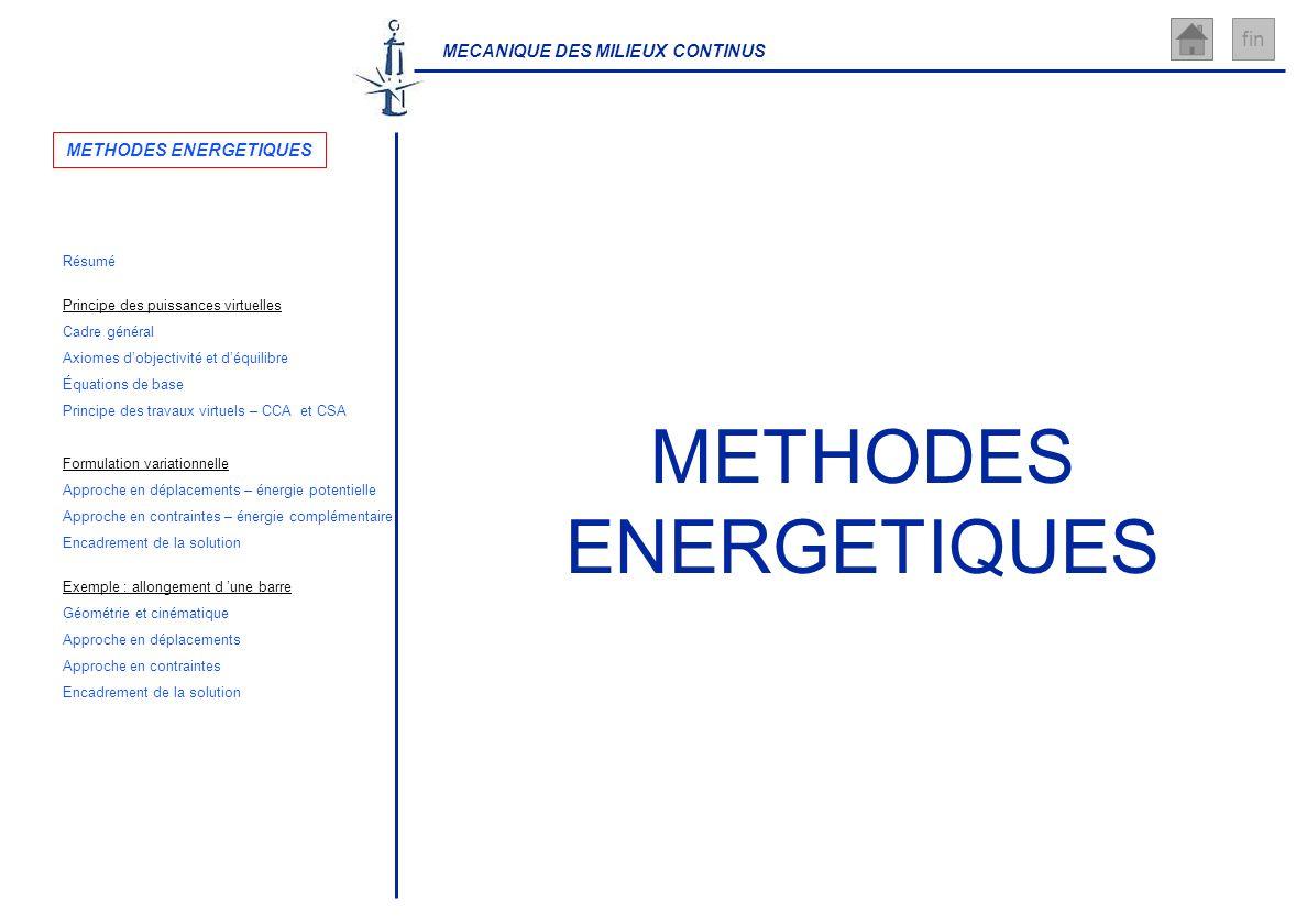 METHODES ENERGETIQUES