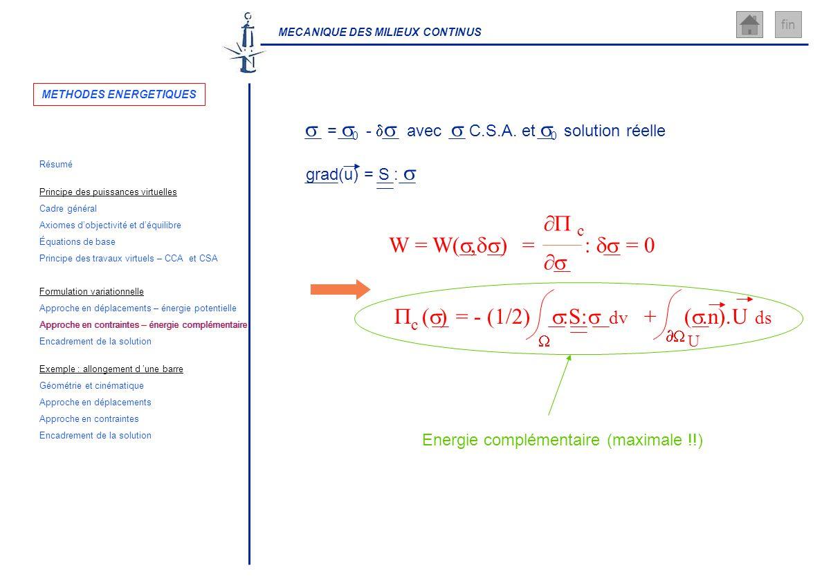 Approche en contraintes – énergie complémentaire