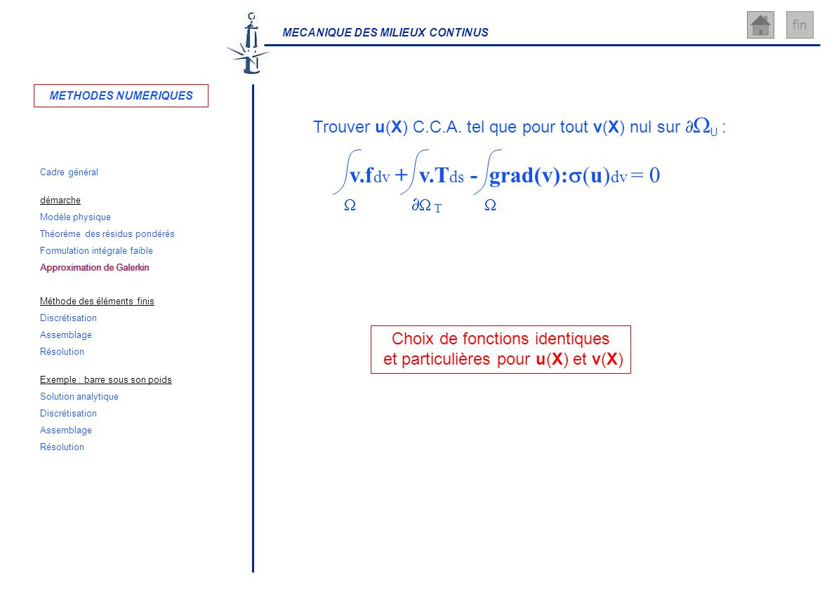 Approximation de Galerkin