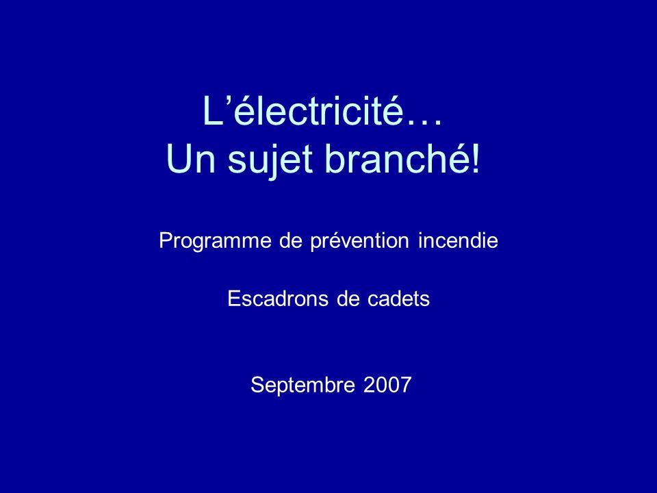 L'électricité… Un sujet branché!