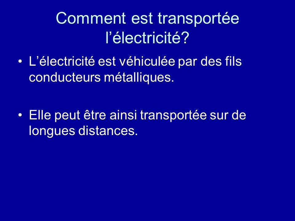 Comment est transportée l'électricité