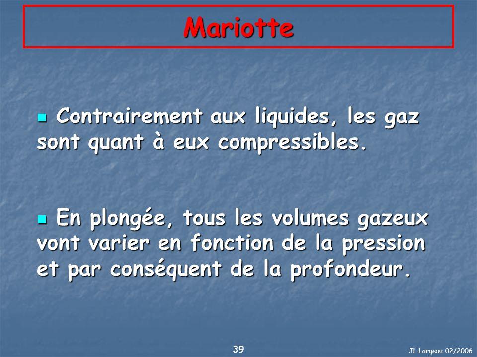 Mariotte Contrairement aux liquides, les gaz sont quant à eux compressibles.