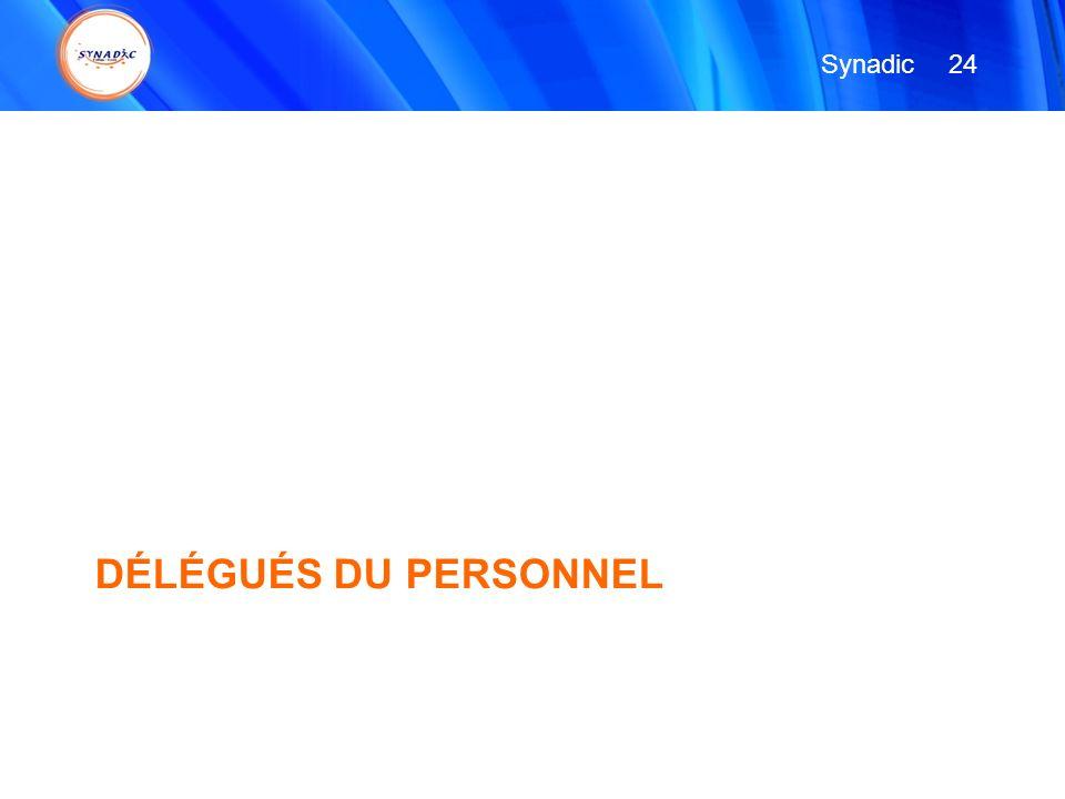 Synadic 24 DÉLÉGUÉS DU PERSONNEL
