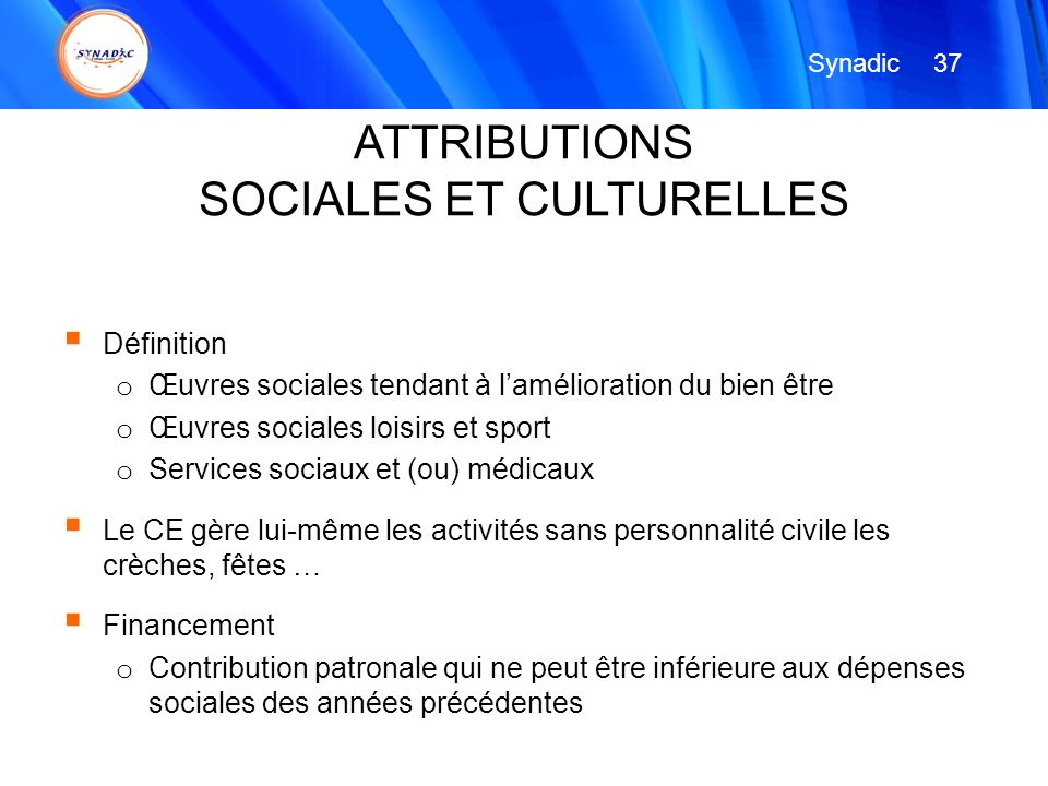 SOCIALES ET CULTURELLES