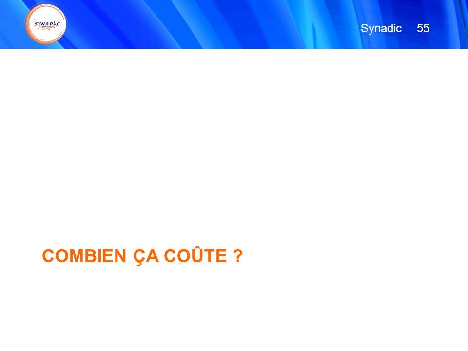 Synadic 55 COMBIEN ÇA COÛTE