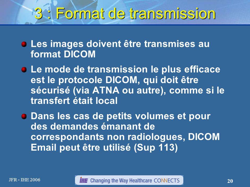 3 : Format de transmission