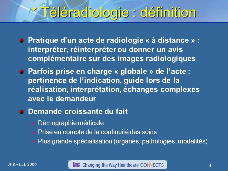 * Téléradiologie : définition