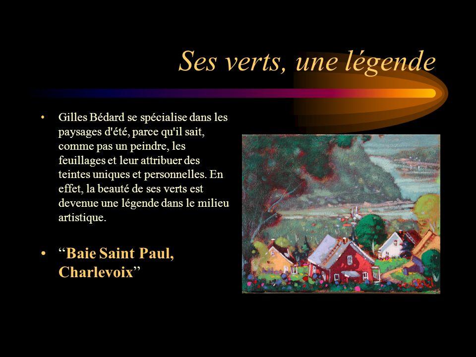 Ses verts, une légende Baie Saint Paul, Charlevoix