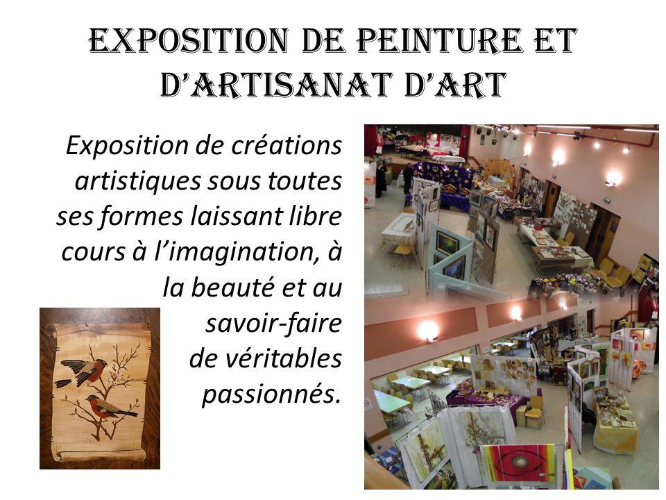 EXPOSITION DE PEINTURE ET D'ARTISANAT D'ART