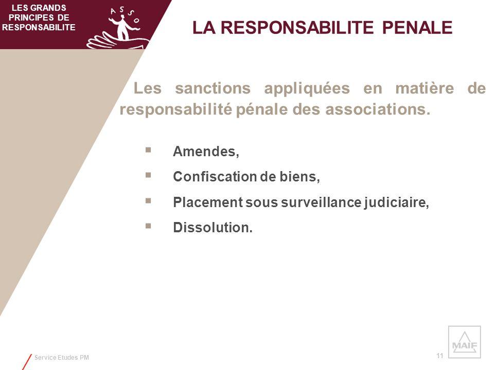 LES GRANDS PRINCIPES DE RESPONSABILITE LA RESPONSABILITE PENALE