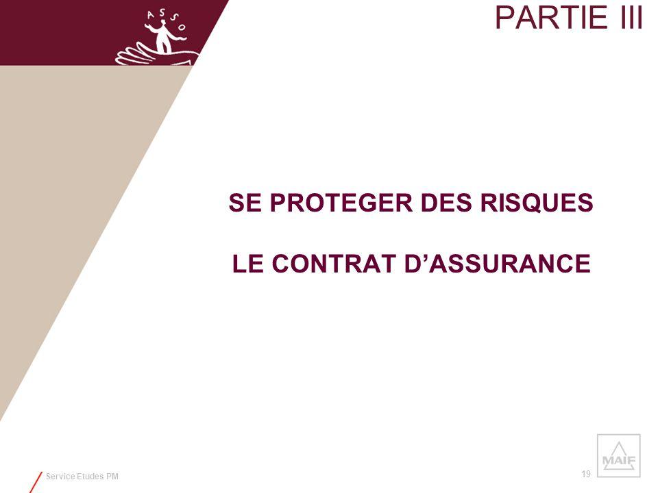 SE PROTEGER DES RISQUES LE CONTRAT D'ASSURANCE