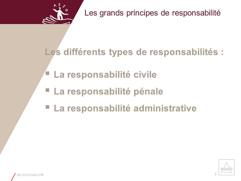Les grands principes de responsabilité