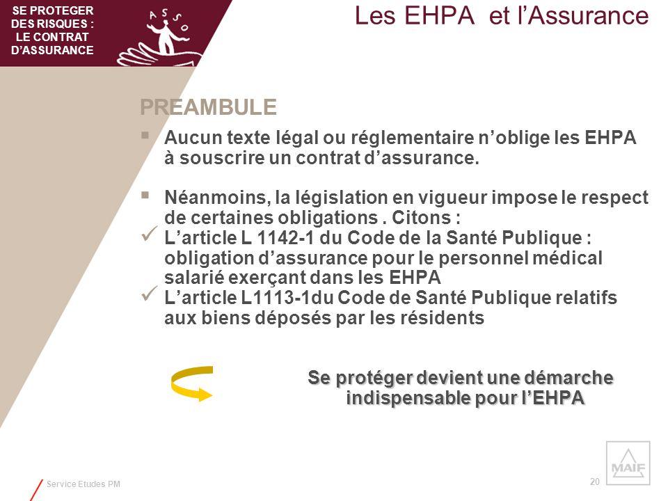 Les EHPA et l'Assurance