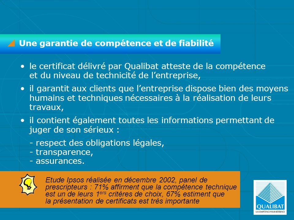 Une garantie de compétence et de fiabilité