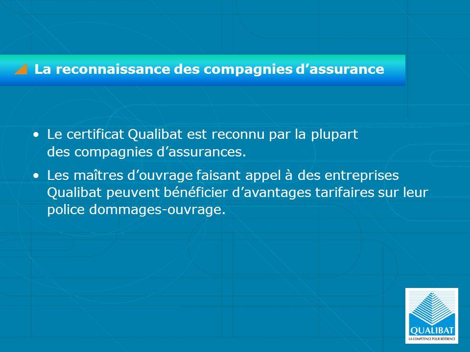 La reconnaissance des compagnies d'assurance