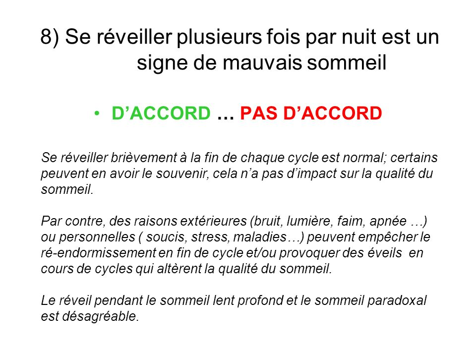D'ACCORD … PAS D'ACCORD