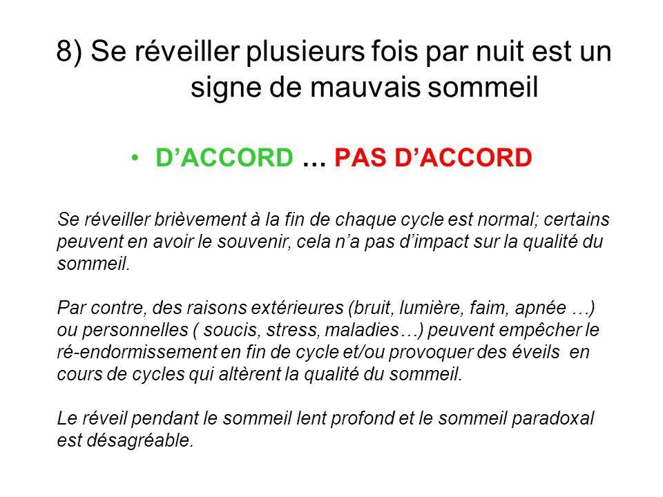 D'ACCORD … PAS D'ACCORD