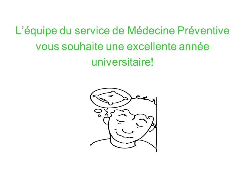 L'équipe du service de Médecine Préventive