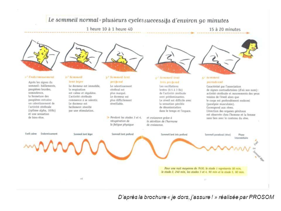 D'après la brochure « je dors, j'assure ! » réalisée par PROSOM