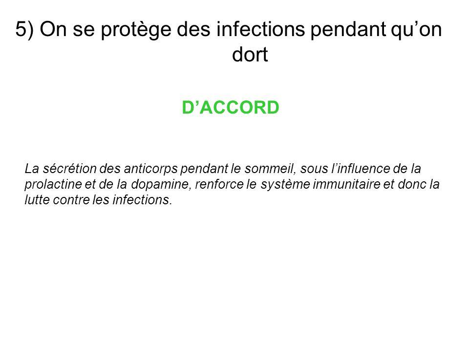 5) On se protège des infections pendant qu'on dort