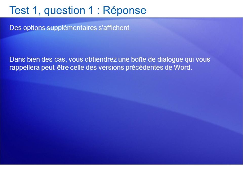 Test 1, question 1 : Réponse