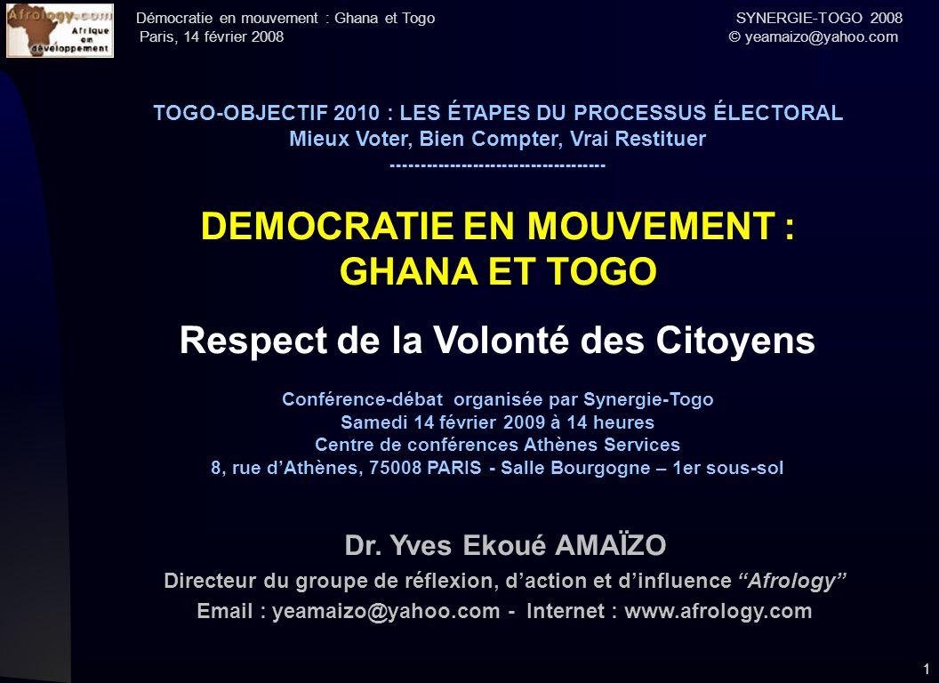 DEMOCRATIE EN MOUVEMENT : GHANA ET TOGO
