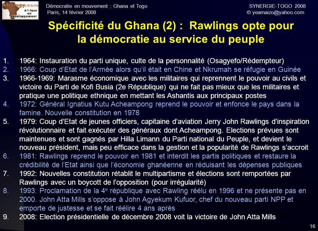 Spécificité du Ghana (2) : Rawlings opte pour la démocratie au service du peuple