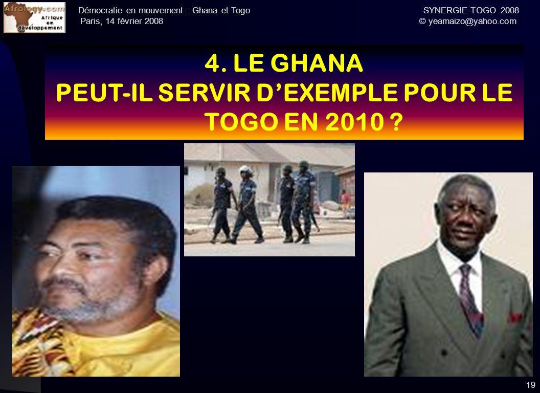 PEUT-IL SERVIR D'EXEMPLE POUR LE TOGO EN 2010