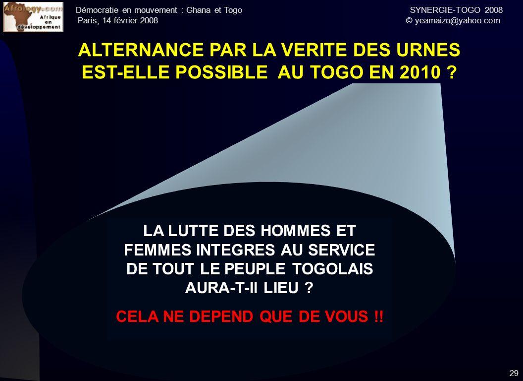 L'INDISPENSABLE REFONDATION DE L'UNITE POUR UNE ALTERNANCE PACIFIQUE