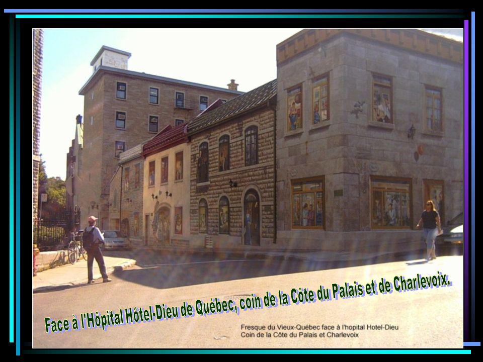 Face à l Hôpital Hôtel-Dieu de Québec, coin de la Côte du Palais et de Charlevoix.