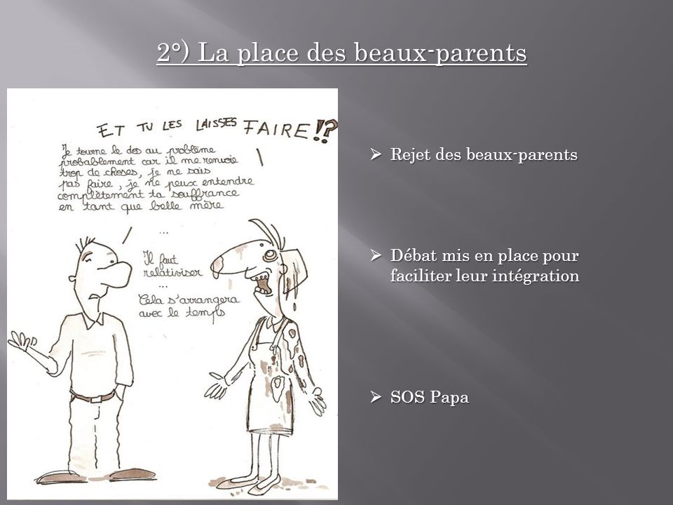 2°) La place des beaux-parents