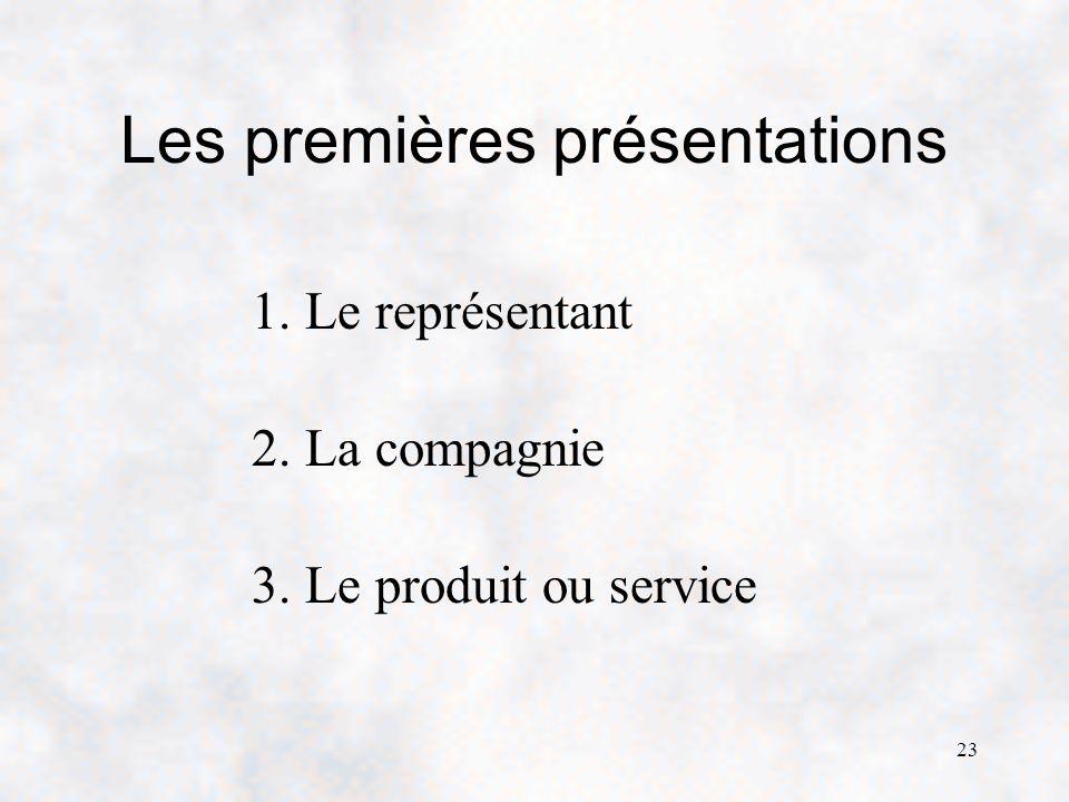 Les premières présentations
