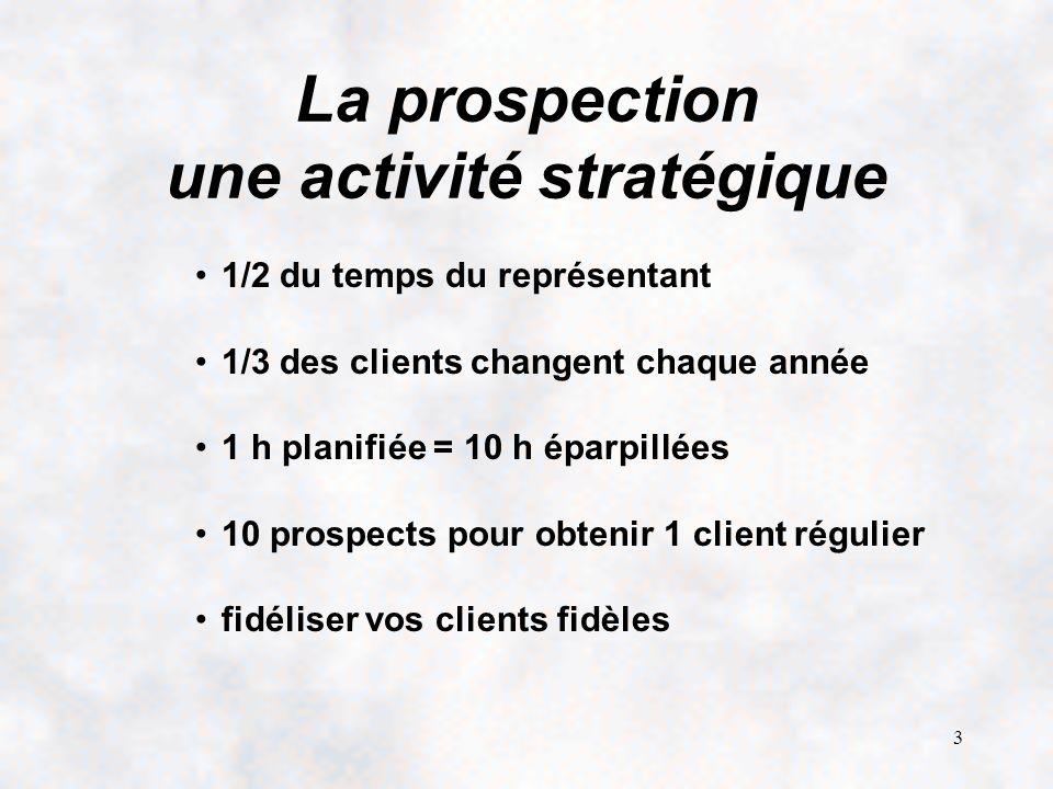 La prospection une activité stratégique