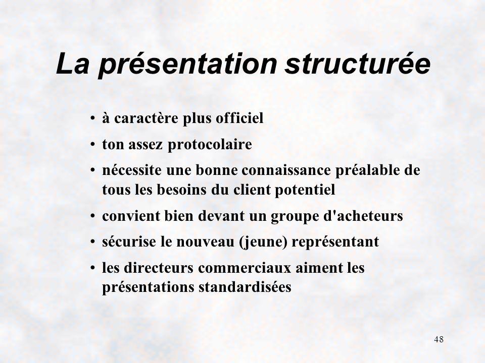 La présentation structurée